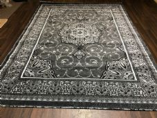 Modern Rugs Approx 11x8ft 240x340cm Woven Thick Sale Top Quality Grey/Silver New